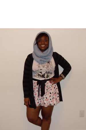 H&M scarf - Gap t-shirt - H&M skirt - New York & Company sweater - Charlotte Rus