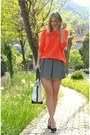 New-yorker-bag-carrot-orange-zara-jumper-striped-river-island-skirt
