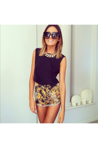 statement necklace - glasses