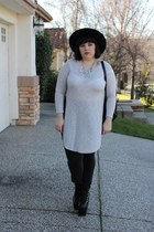 relics UNIF hat - grey American Eagle jeans - tunic Forever 21 shirt