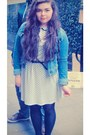 New-look-dress-denim-h-m-jacket-black-pretty-polly-tights