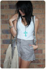 Gray-asos-laser-cut-scalloped-leather-shorts-white-ladakh-top-white-sportsgi