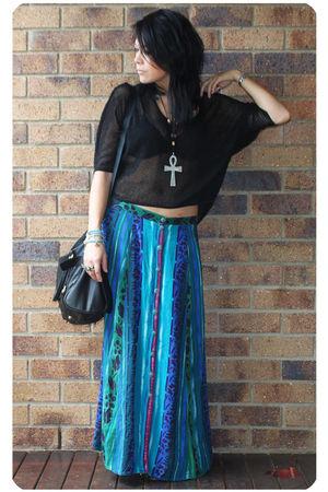 black Sportsgirl Honeycomb Mesh top - black hong kong boutique shoes
