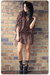 black lace Ebay socks - black GoJane shoes - red vintage dress