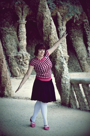 pink BLANCO shirt - black Promod skirt - white Calzedonia tights - pink Secret S