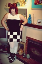black Madcap dress - white Calzedonia tights - white Calzedonia socks - black Ac