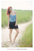 sky blue ombre fringed free people dress