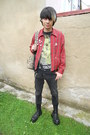 Black-deichmann-shoes-black-denim-co-jeans-red-thrifted-jacket
