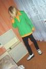 Chartreuse-vintage-blazer-white-montreal-boots-black-levis-jeans