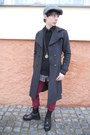 Black-pure-trash-boots-charcoal-gray-thrifted-coat-ruby-red-new-yorker-jeans