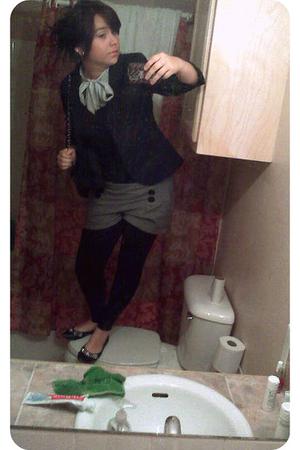 Forever 21 shorts - Forever 21 blazer - Forever 21 shoes - Charlotte Russe blous