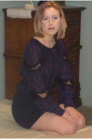blue Jovovich Hawk blouse - blue Jovovich Hawk skirt