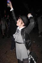Phoebes Vintage friend dress - Retro Metro jacket - Byron Bay hat co hat - Salvo