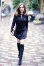 Black-zara-boots-black-suede-zara-dress-brown-lk-bennett-bag