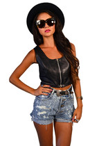 leather top Saltwater Gypsy Vintage top
