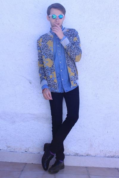 blue Topman sweater - light blue H&M shirt