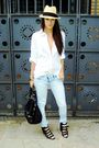 Blue-asos-jeans-black-asos-shoes-white-h-m-shirt-black-topshop-accessories