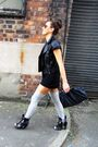 Gray-aa-socks-black-topshop-boots-black-aa-dress-black-topshop-jacket-bl