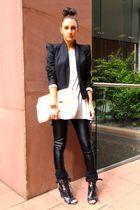 black Topshop boots - black Topshop leggings - silver Topshop t-shirt - black To