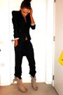 Black-topshop-pants-black-topshop-blazer-beige-zara-boots
