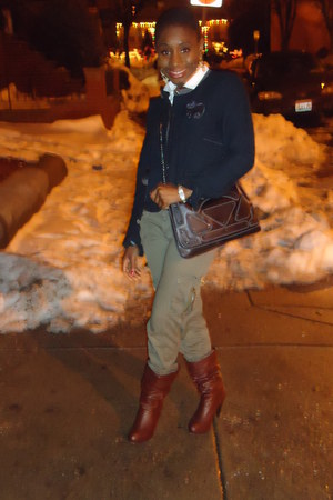 American Eagle blazer - H&M bag - Forever21 boots