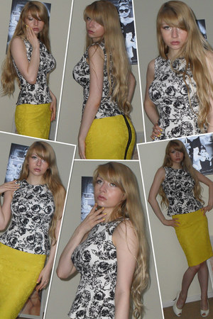 Primark top - Office shoes - Marks & Spencer skirt