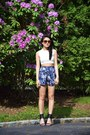 High-waisted-be-happy-live-pink-shorts-crop-top-zara-top-heels-vince-sandals