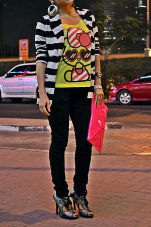 hello kitty Forever 21 t-shirt - black skinny Zara jeans - Forever 21 blazer