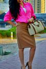 Neon-pink-zara-shirt-zara-bag-leopard-newlook-heels-zara-skirt