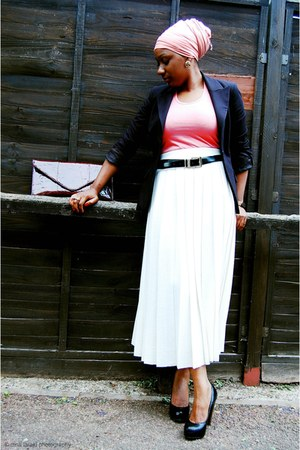 Bertie shoes - Zara blazer - gift bag - vintage skirt - versace belt