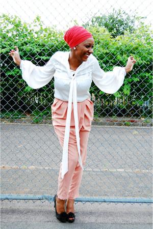 Primark blouse - H&M pants - Zara heels