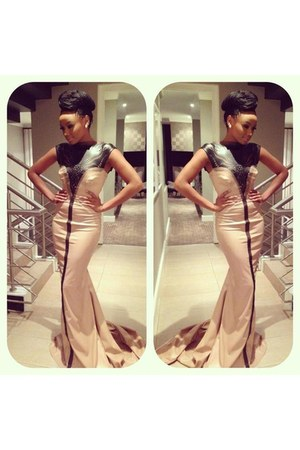 neutral Gert Johan Coetzee dress - heels