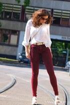 Stradivarius shoes - asos jeans - asoscom sunglasses - H&M blouse