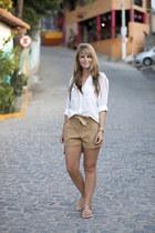Zara blouse - Mango bag - Miss Selfridge shorts - Havaianas sandals