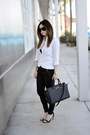 White-boyfriend-shirt-tna-shirt-black-large-selma-michael-kors-bag