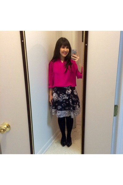 black Target skirt - hot pink hot pink thrifted blouse