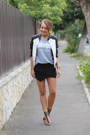 choiescom top - Amisu jacket - Zara shorts - Zara heels