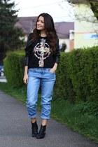 Sheinsidecom blouse - Mart of China boots