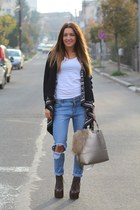 George cardigan - Jeffrey Campbell boots - choiescom jeans