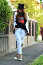 abaday t-shirt - Sheinsidecom blazer - Mart of China heels