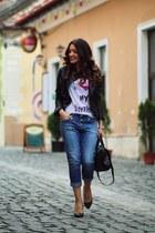 Motivi jeans - Sheinsidecom jacket - tshirt-factory t-shirt