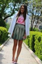 meli melo bag - PERSUNMALL blouse - Zara heels