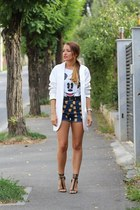 Zara blazer - Choies shorts - Zara sandals