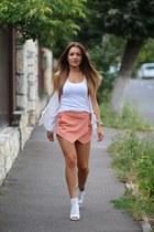 romwe shorts - Zara heels