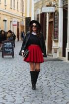 my silk fairytale skirt - choiescom boots - Sheisnide jacket - meli meli bag