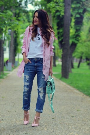 Sheinsidecom coat - pink coat