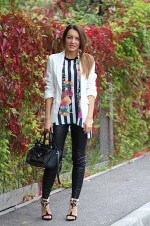 Sheinsidecom blouse - choiescom heels - Zara pants