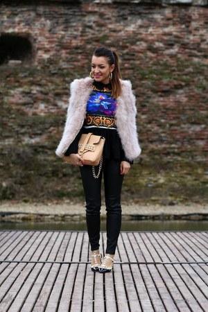 Zara vest - Rosewholesale bag - Rosewholesale flats - Romwecom blouse