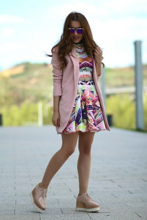 Sheinsidecom dress - Sheinsidecom coat - Jessica Buurman wedges