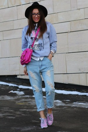 choiescom shirt - chicnova jeans - choiescom hat - choiescom sweater